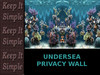 Undersea Privacy Wall / Privacy Screen / full perms