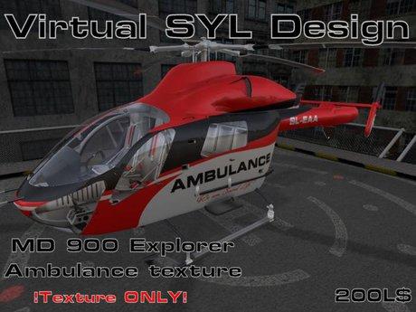 .:Virtual SYL Design:. MD 900 Ambulance texture