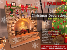 Fireplace Christmas Decoration PACK - FULL PERM