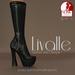 {Livalle} Evoke -Platform Boots- Noir