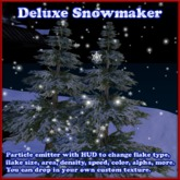 Snow maker with HUD, copyable, custom texture support (snow machine, winter, snowflake emitter, MERRY CHRISTMAS)