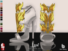 Bens Boutique - Leaf High Heels Allcolors (gold)