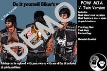 NP_V-Twin Biker Vest Mens - Pow Mia - DEMO