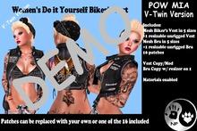 NP_V-Twin Biker Vest Female - Pow Mia - DEMO