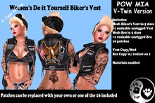 NP_V-Twin Biker Vest Female - Pow Mia