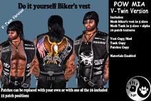 NP_V-Twin Biker Vest Mens - Pow Mia