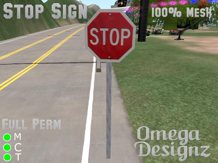 Stop Sign (Mesh)