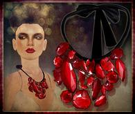P.C; Garnet Nest Necklace - Red