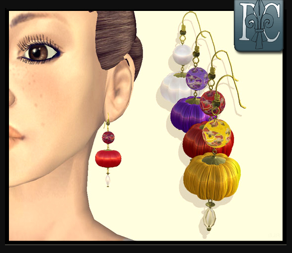 P.C; Chinese Lantern Earrings
