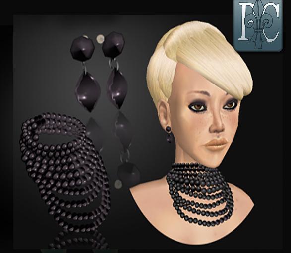 p.c.; Black Pearl Set