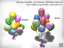 LDG-No Transfer 005 Rezday - Birthday balloons