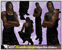 **SD** -Rambo - ( Mesh Outfit ) with Combat Boots - Black
