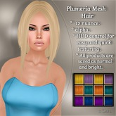 !SOUL - HAIR Mesh - Plumeria - 12 Nuances -  Colors Set 1