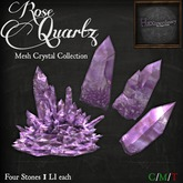 *HEXtraordinary* Rose Quartz Mesh Crystal Collection
