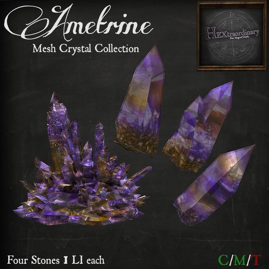 *HEXtraordinary* Ametrine Mesh Crystal Collection