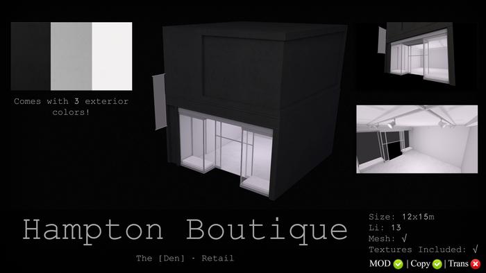Hampton Boutique - The [Den.]  Retail 50% SALE