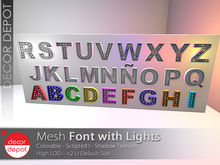 """[DD] - FULL PERM Font with lights  """"UPDATED"""""""