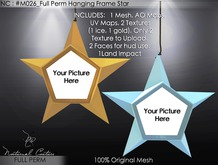 NC : #M026_Full Perm Hanging Frame Star