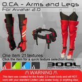 <UTILIZATOR> -  O.CA - Arms & Legs(for UTILIZATOR AVATARS ONLY)