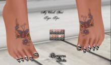 ~GD~My Chick Bad(Tiger Tips)Pedi - Slink FLAT Feet