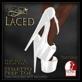 CB~Laced (SLINK HIGH) White