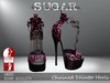SUGAR - Chained Heel for HIGH SLINK FEET - PINK CHEETAH ~PROMOTIONAL SALE~