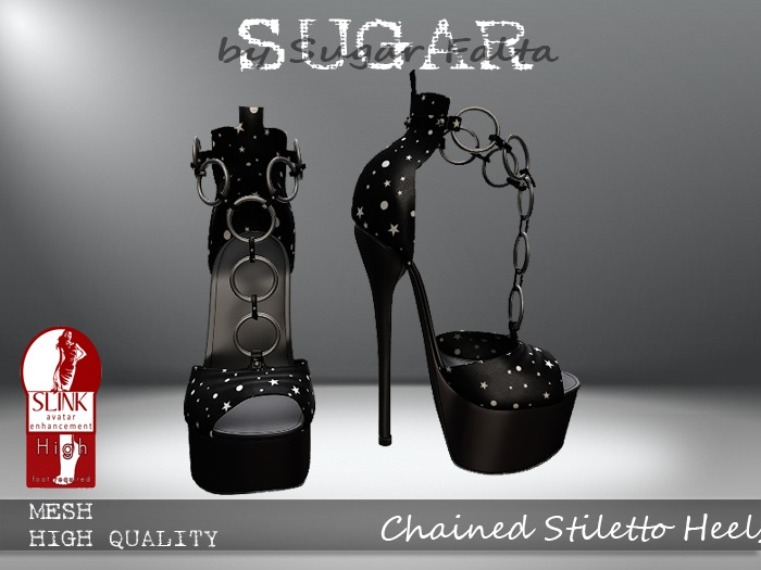 SUGAR - Chained Heel for HIGH SLINK FEET - STARS ~PROMOTIONAL SALE~