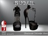 SUGAR - Chained Heel for HIGH SLINK FEET - BLACK ~PROMOTIONAL SALE~