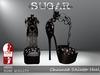 SUGAR - Chained Heel for HIGH SLINK FEET - SKULLS n STARS ~PROMOTIONAL SALE~