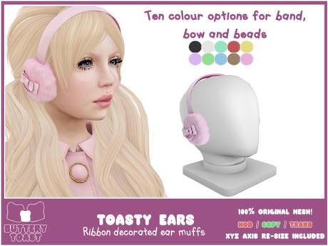-Buttery Toast- Toasty Ears - Black