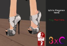 3xC White Elegance Heels