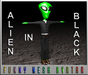ALIEN IN BLACK - MAN (MESH)