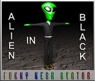 ALIEN IN BLACK (MESH)