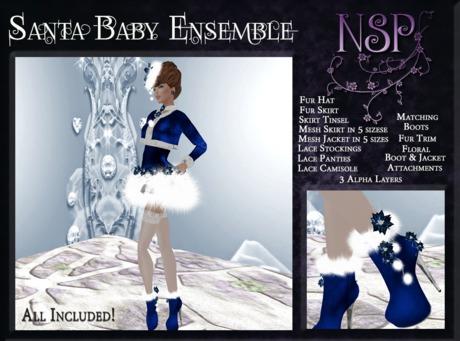 NSP Santa Baby Full Set (Ice Blue&Silver) boxed