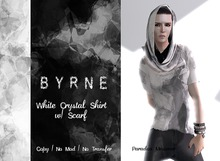 (BYRNE) DEMO Crystal Black Mesh Mens Shirt & Scarf(BOXED)