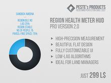 Region Health & Lag Meter Pro HUD
