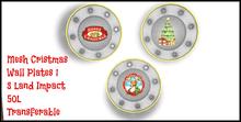Mesh Christmas Wall Plates 1