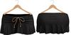 Blueberry Kits - Mesh - Belleza Venus & Standard Sizes - Tied Suede Skirts Black