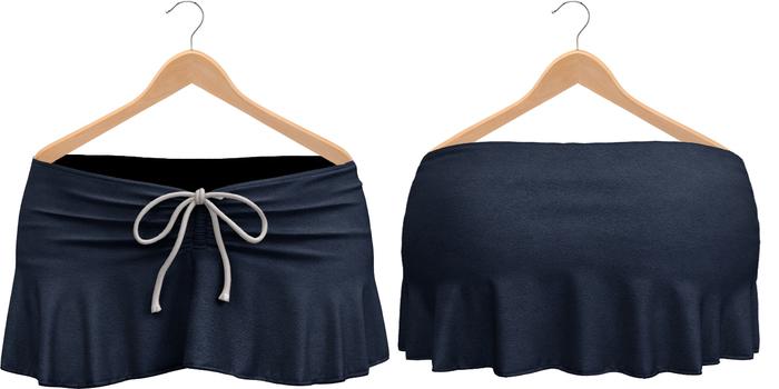 Blueberry Kits - Mesh - Belleza Venus & Standard Sizes - Tied Suede Skirts Midnight