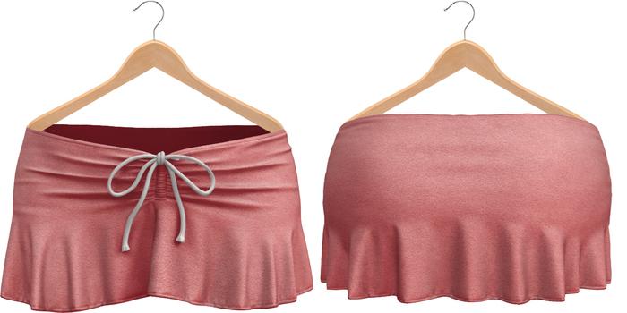 Blueberry Kits - Mesh - Belleza Venus & Standard Sizes - Tied Suede Skirts Pink