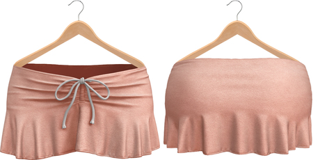 Blueberry Kits - Mesh - Belleza Venus & Standard Sizes - Tied Suede Skirts Pixie