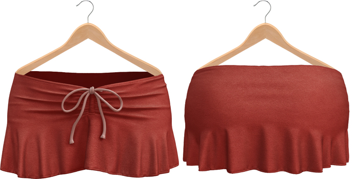 Blueberry Kits - Mesh - Belleza Venus & Standard Sizes - Tied Suede Skirts Red