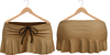 Blueberry Kits - Mesh - Belleza Venus & Standard Sizes - Tied Suede Skirts Tan