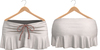 Blueberry Kits - Mesh - Belleza Venus & Standard Sizes - Tied Suede Skirts White