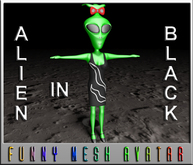 ALIEN IN BLACK -WOMAN (MESH)