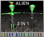 ALIEN IN BLACK - 2 in 1 (MESH)