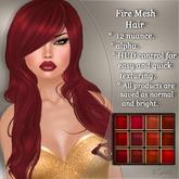 !SOUL - HAIR Mesh  - Fire - 12 Nuances -  Red Set 1