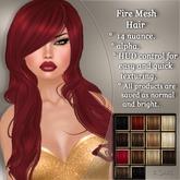 !SOUL - HAIR Mesh  - Fire - 14 Nuances -  Special Set 1