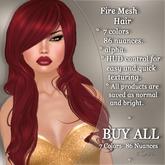 !SOUL - HAIR Mesh - Fire - BUY ALL - 7 Colors- 86 Nuances
