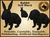 VKC® Rabbit Self Blue -Artificially Intelligent (AI) Trainable Pet- No Food Required -Virtual Kennel Club- Pathfinding